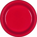 Apple Red 10.25in Plastic Plates