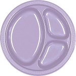 Lavender 10.25in Divided Plastic Plates