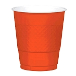 Orange Peel 12oz Plastic Cups