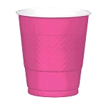 Bright Pink 12oz Plastic Cups