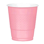 New Pink 12oz Plastic Cups