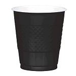 Jet Black 12oz Plastic Cups