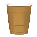 Gold 12oz Plastic Cups