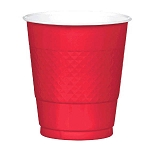 Apple Red 12oz Plastic Cups