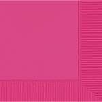 Bright Pink 2-Ply Beverage Napkins