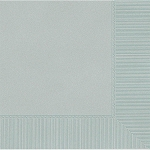 Silver 2-Ply Beverage Napkins