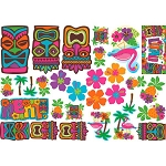 Tiki Assortment Mega Value Cutouts