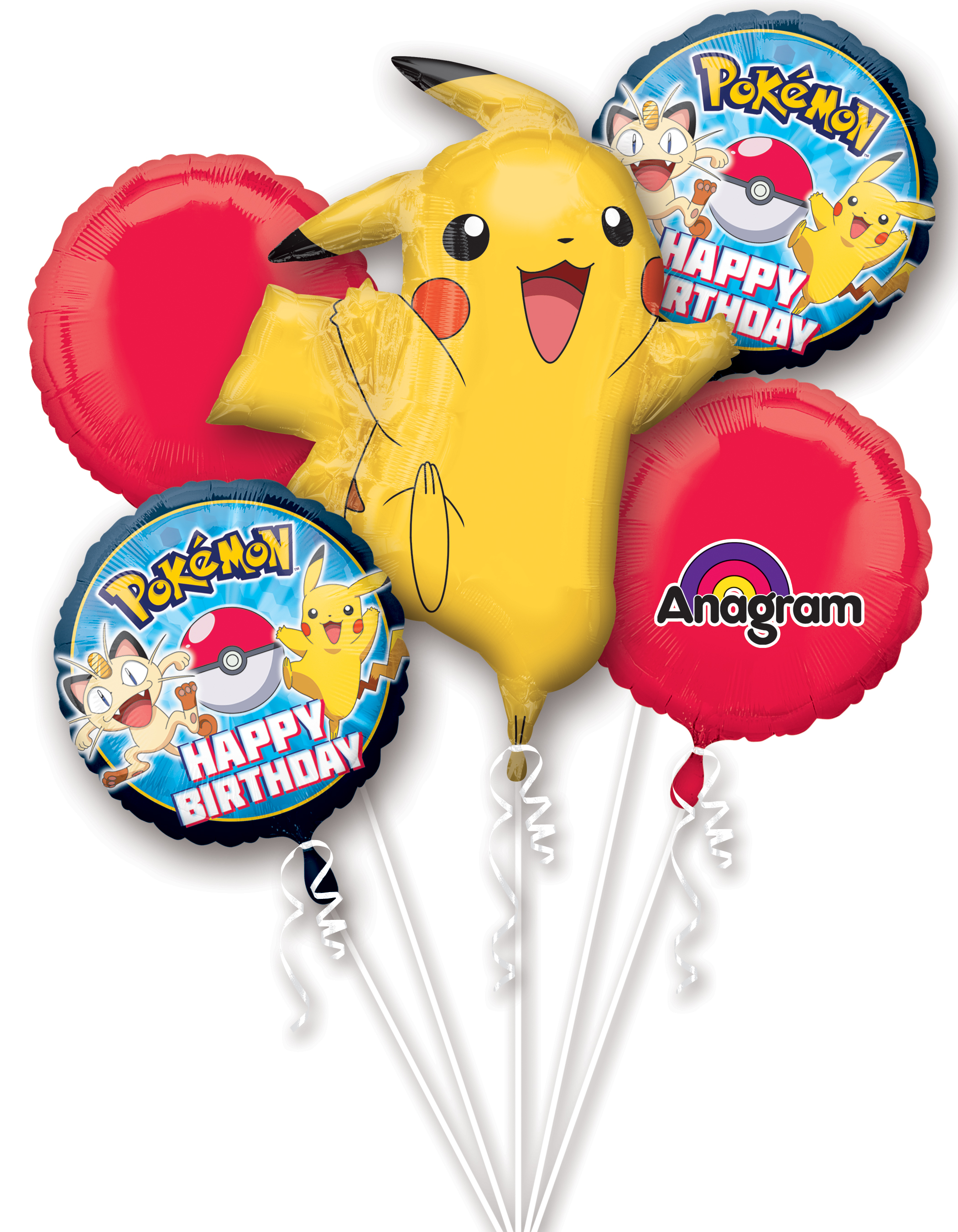 Pokemon Birthday Balloon Bouquet