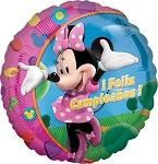18in Minnie Feliz Cumpleanos