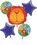 Jungle Animals Bday Balloon Bouquet