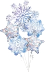 Snowflakes  Balloon Bouquet