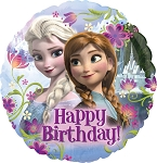18in Frozen Anna & Elsa HBD