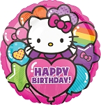 18in Hello Kitty Rainbow HBD