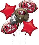 San Francisco 49ers Balloon Bouquet
