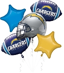 Chargers Balloon Bouquet