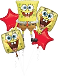 SpongeBob Bday Balloon Bouquet