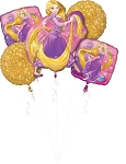 Princess Rapunzel Bday Balloon Bouquet