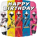 18in Power Rangers Ninja Steel Happy Birthday