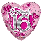 18in SV Sweet 16th Pink