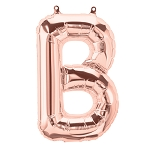 16in Rose Gold Letter B  Foil Balloon