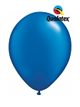 11in Pearl Sapphire Blue Latex Balloon - 100 ct