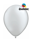 11in Metallic Silver Latex Balloon - 100 ct