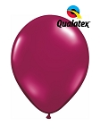 5in Sparkling Burgundy Latex Balloons - 100 ct