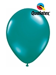5in Jewel Teal Latex Balloons - 100 ct