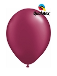 5in Pearl Burgundy Latex Balloons - 100 ct