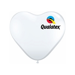 11in Heart-Shaped Diamond Clear Latex Balloon - 100 ct