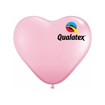11in Heart-Shaped Pink Latex Balloon - 100 ct