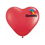 11in Heart-Shaped Red Latex Balloon - 100 ct