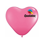 11in Heart-Shaped Rose Latex Balloon - 100 ct