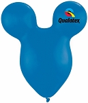 15in Mouse Head Dark Blue Latex Balloon - 50 ct