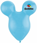 15in Mouse Head Pale Blue Latex Balloon - 50 ct