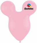 15in Mouse Head Pink Latex Balloon - 50 ct