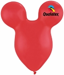 15in Mouse Head Red Latex Balloon - 50 ct