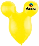 15in Mouse Head Yellow Latex Balloon - 50 ct