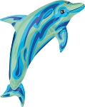SuperShape Ocean Blue Dolphin