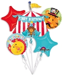 Fisher Price 1st Bday Circus Balloon Bouquet