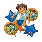 Go Diego Go Birthday  Balloon Bouquet