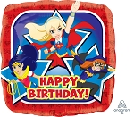18in DC Super Hero Girls Happy Birthday