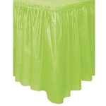 Plastic Table Skirt - Apple Green