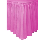 Plastic Table Skirt - Fuchsia