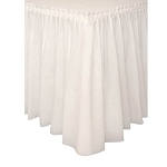 Plastic Table Skirt - Ivory
