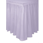 Plastic Table Skirt - Lavender