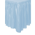Plastic Table Skirt - Light Blue