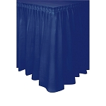 Plastic Table Skirt - Navy