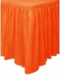 Plastic Table Skirt - Orange