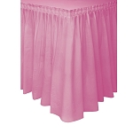 Plastic Table Skirt - Pink